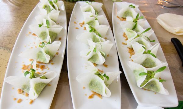 Morralitos - guacamole wrapped jicama - SLS Hotel The Bazaar